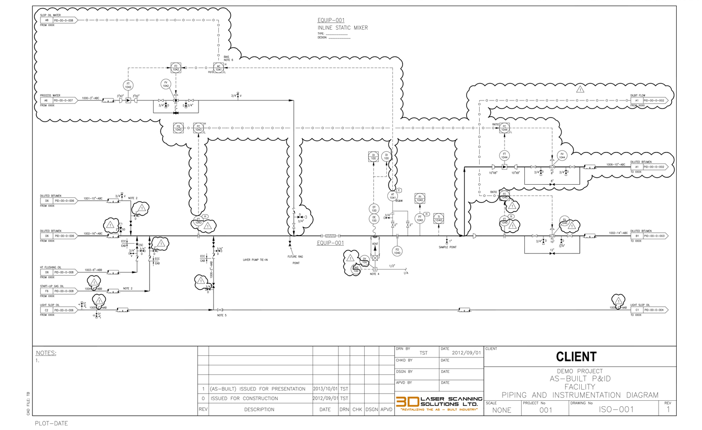 Services 3d Laser Scanning Solutions Ltd Piping Layout Drawing Red Lined Pid As Built